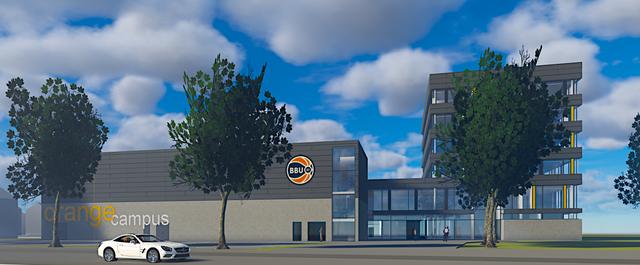 """Foto:Visialisierung BBU01 / So soll es einmal aussehen der """"Orange Campus"""""""